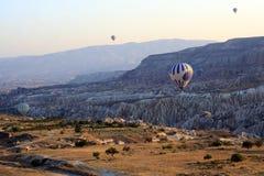 Paseo del globo del aire caliente, Cappadocia Fotografía de archivo libre de regalías