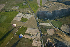 Paseo del globo del aire caliente en Cappadocia Imagen de archivo libre de regalías