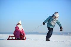 Paseo del invierno Imagenes de archivo