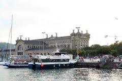 Paseo Del Mar在巴塞罗那 库存照片