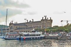 Paseo Del Mar på Barcelona Royaltyfria Bilder