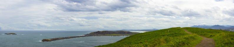 Paseo del panorama del puerto de Coff Foto de archivo libre de regalías