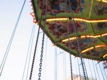 Paseo del parque de atracciones Foto de archivo