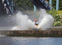 Paseo del parque de atracciones del chapoteo del agua Fotografía de archivo