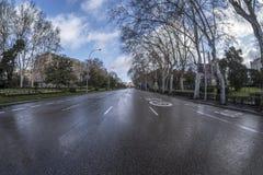 Paseo del Prado Madrid, 11 Maart, 2018 spanje stock afbeelding
