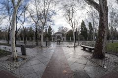 Paseo del Prado Madrid mars 11th, 2018 spain Royaltyfri Fotografi