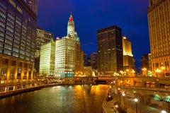 Paseo del río Chicago imágenes de archivo libres de regalías