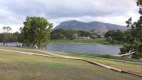 Paseo del río de la tarde Foto de archivo libre de regalías