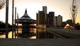Paseo del río Detroit Fotografía de archivo