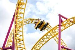 Paseo del roller coaster Fotos de archivo libres de regalías