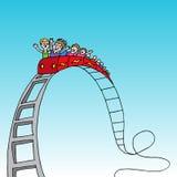 Paseo del roller coaster Imagen de archivo