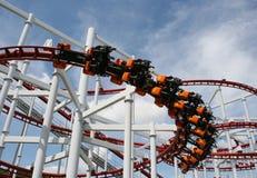 Paseo del roller coaster Imagen de archivo libre de regalías