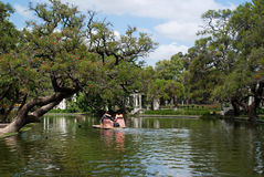 Paseo del Rosedal a Buenos Aires o Rose Garden immagini stock libere da diritti