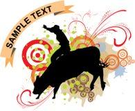 Paseo del toro del granero Foto de archivo libre de regalías