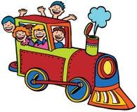 Paseo del tren del niño Imagen de archivo libre de regalías