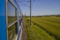 Paseo del tren del país Imágenes de archivo libres de regalías