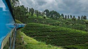 Paseo del tren en Sri Lanka fotografía de archivo