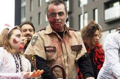 Paseo del zombi de Montreal Imagen de archivo libre de regalías