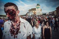 Paseo del zombi en Varsovia Foto de archivo libre de regalías