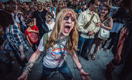 Paseo del zombi en Varsovia Imagenes de archivo