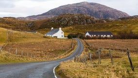 Paseo dominguero Hebrides externo Escocia fotografía de archivo