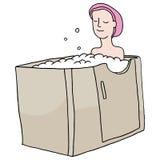 Paseo en bañera Imágenes de archivo libres de regalías