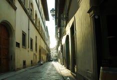 Paseo en las calles de Florencia Paisaje de la ciudad Imagen de archivo