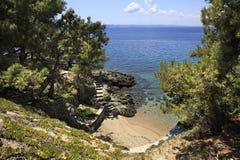 Paseo escénico abajo al Mar Egeo Fotos de archivo libres de regalías