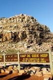 Paseo escénico de Cabo de Buena Esperanza, Suráfrica Foto de archivo libre de regalías