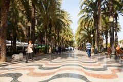 Paseo Explanada de Espana in Alicante Stock Image