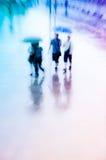 Paseo grande de la gente de ciudad en el camino Imagen de archivo