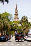Paseo histórico del carro, Charleston, SC Foto de archivo