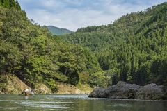 Paseo Japón del barco de Katsura River fotos de archivo