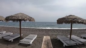 Paseo a la playa de Santorini metrajes