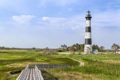 Paseo marítimo a Bodie Island Lighthouse Fotografía de archivo libre de regalías
