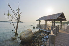 Paseo marítimo costero de la punta de Changi de Singapur Imagen de archivo libre de regalías