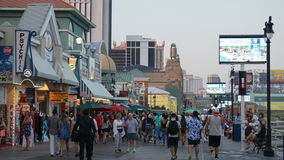 Paseo marítimo de Atlantic City en New Jersey Foto de archivo libre de regalías