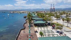 Paseo marítimo de Guancha del La, Ponce Foto de archivo