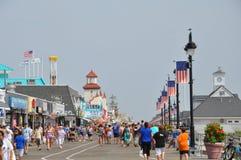 Paseo marítimo de la ciudad del océano en New Jersey Fotografía de archivo
