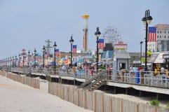 Paseo marítimo de la ciudad del océano en New Jersey Fotografía de archivo libre de regalías