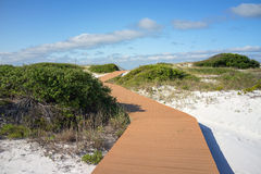 Paseo marítimo de las dunas de arena fotografía de archivo libre de regalías