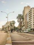 Paseo marítimo de Montevideo Imágenes de archivo libres de regalías