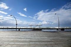 Paseo marítimo del invierno Foto de archivo libre de regalías
