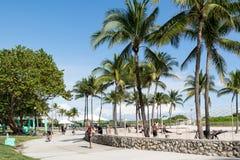 Paseo marítimo del sur de la playa, Miami Beach Foto de archivo