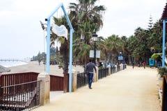 Paseo Maritimo Марбелья Стоковое Изображение RF