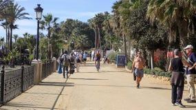 Paseo Maritimo Марбелья Стоковая Фотография