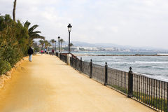 Paseo Maritimo Marbella Royalty Free Stock Images