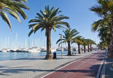 Paseo Maritimo Royalty Free Stock Photos