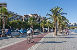 Paseo Maritimo Royalty Free Stock Photo