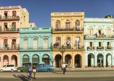 Paseo Marti i Havana Cuba royaltyfri bild